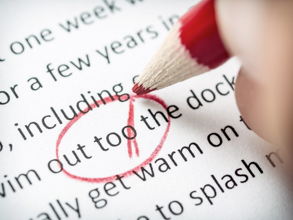 Proofreading a poorly transcribed document by hand wastes time.